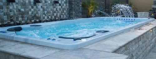 swim spa water